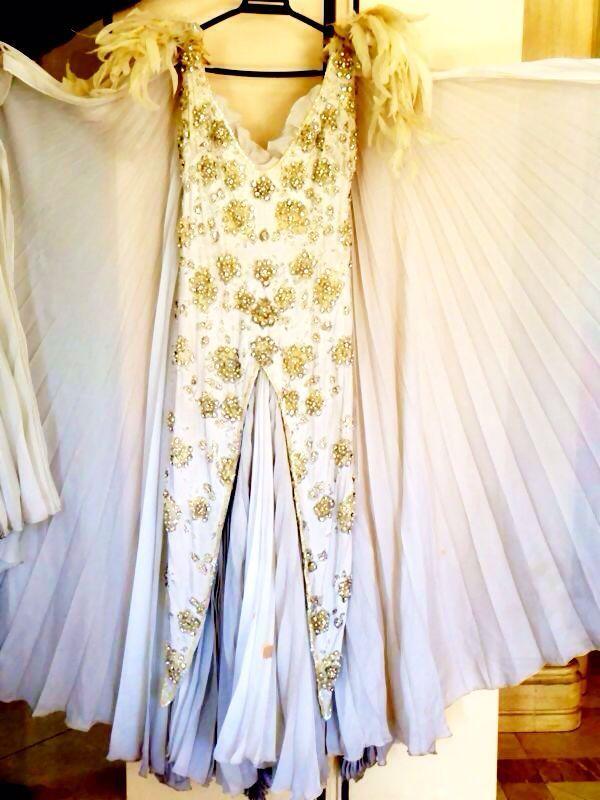 Vestido de la actriz Celia Gámez (1905-1992), donado por Norma Duval. Es el último vestido que llevó la actriz sobre un escenario. http://www.ebay.es/itm/261419604372