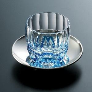 Edo Kiriko cut glass sake cup. Beautiful!
