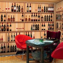 Free Shipping Western restaurant bar cafe snack wallpaper background wallpaper 3D stereoscopic large wine rack wine mural(China (Mainland))