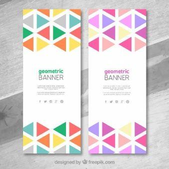 Banners geométricas