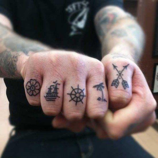 Anuncios Los tatuajes en los dedos se ven muy geniales, lo bueno de tener uno es que son pequeños y