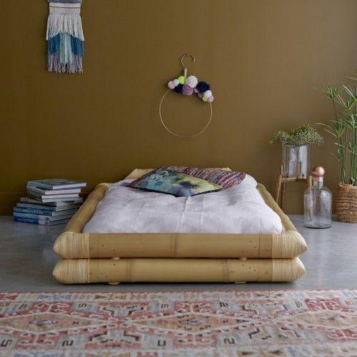 Futonbett aus Bambus 90x190 Balyss - - Tikamoon