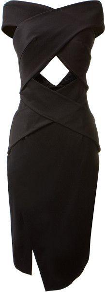 JOSH GOOT Black Crossed Dress - dressmesweetiedarling