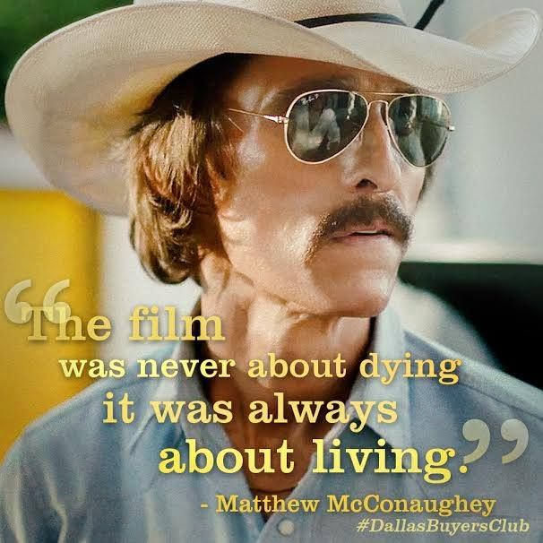 Dallas Buyers Club. Big-hearted roles of a lifetime for Matthew McConaughey and Jared Leto.