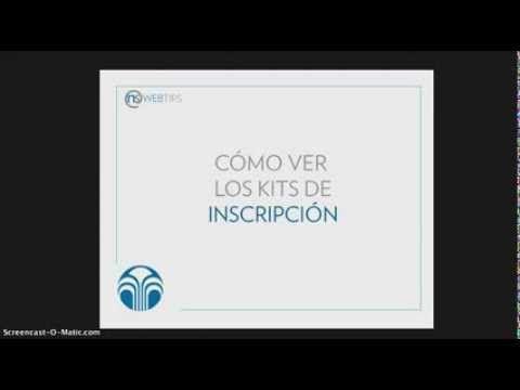 #WebTips- Kits de Inscripción