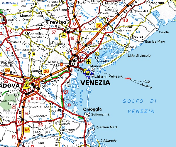 map of venice area italy | Maps of Venice