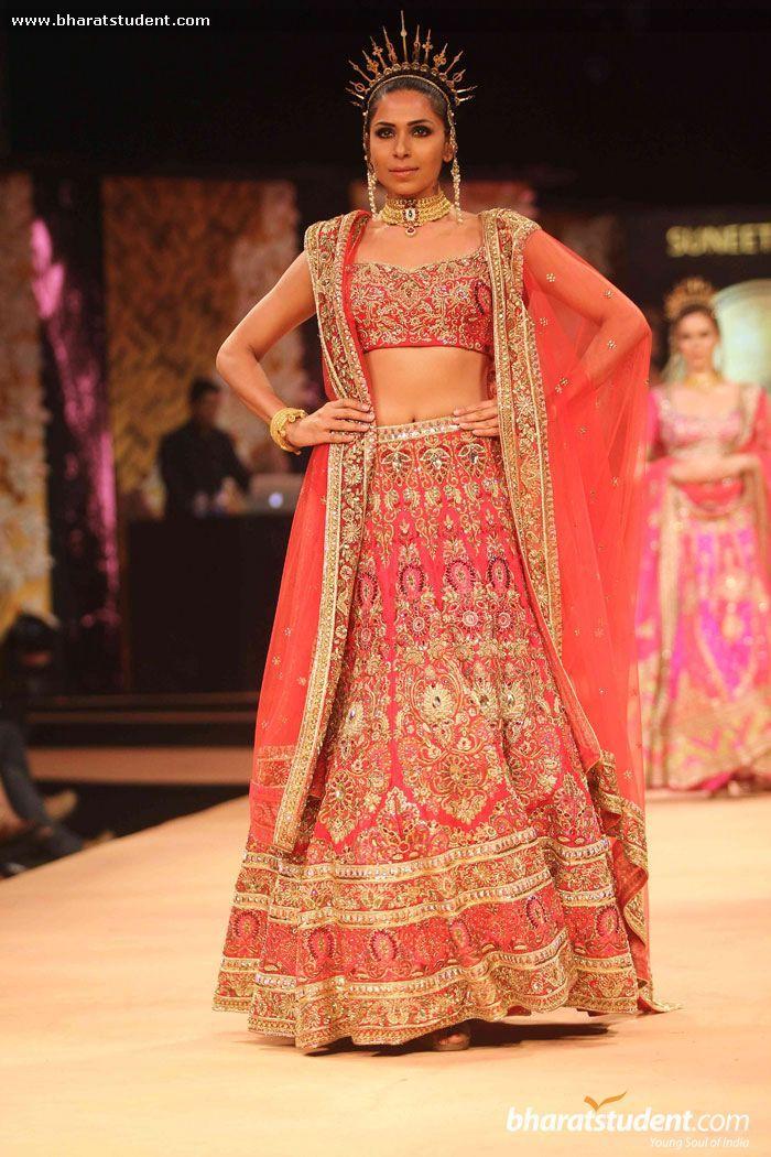 Lengha by Suneet Varma at Blenders Pride Fashion Tour 2014