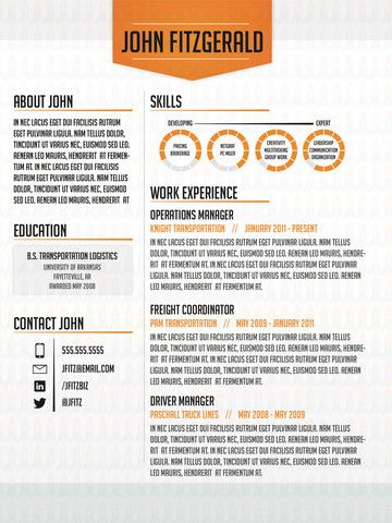 72 best Creative CV   Resume images on Pinterest Resume design - different resume styles