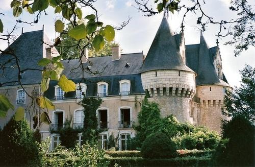 Château de Bazouges situé sur la commune de Bazouges-sur-le-Loir dans la Sarthe, Pays de la Loire, France.