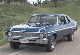 Chevy Nova. Car I drove in high school (at times) but it was a two tone gold. Hey, it was the 70's.