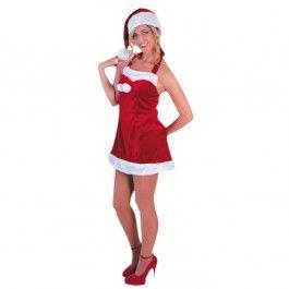 Mère Noël femme sexy luxe, bonnet inclus