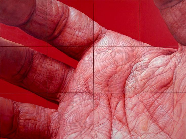 Cool hyper realistic oil paintings entitled 'Flesh' by artist Edie Nadelhaft http://edienadelhaft.com