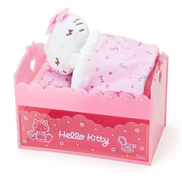 Hello Kitty bed type chest with sleeping mascot Sanrio kawaii Cute F/S NEW