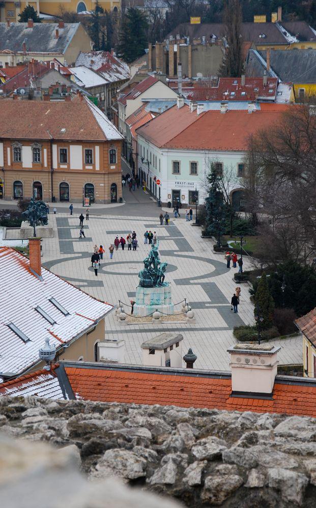 Eger - Hungary - Kilátás a Dobó térre. View Dobó Square