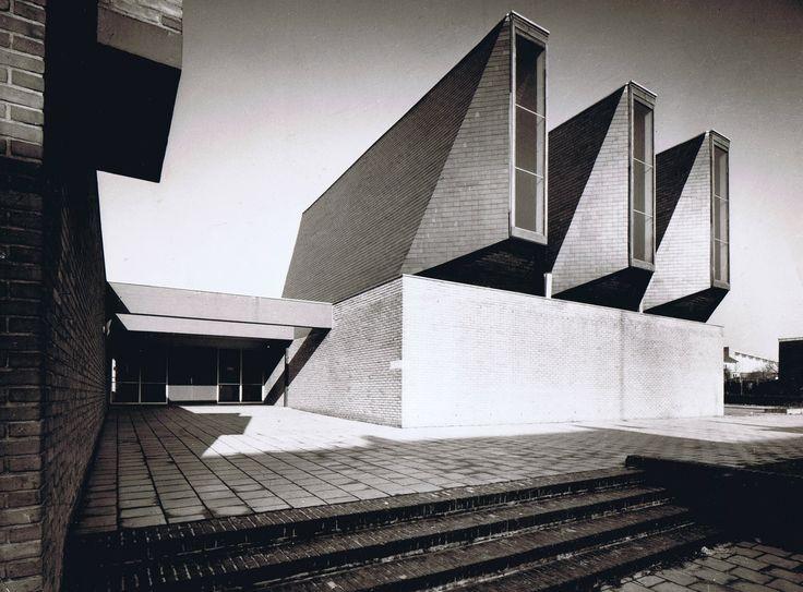 "germanpostwarmodern: "" Church and Community Center ""De Ark"" (1967) in Schaesberg, the Netherlands, by Peter Sigmond """