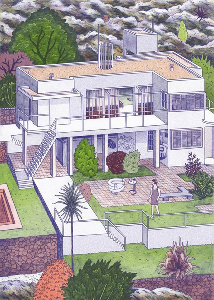 House E.1027 by Eileen Gray illustrated by Josephin Ritschel