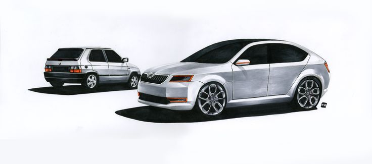 "Skoda design defined by time by Jakub ""Jaker"" Mendel"