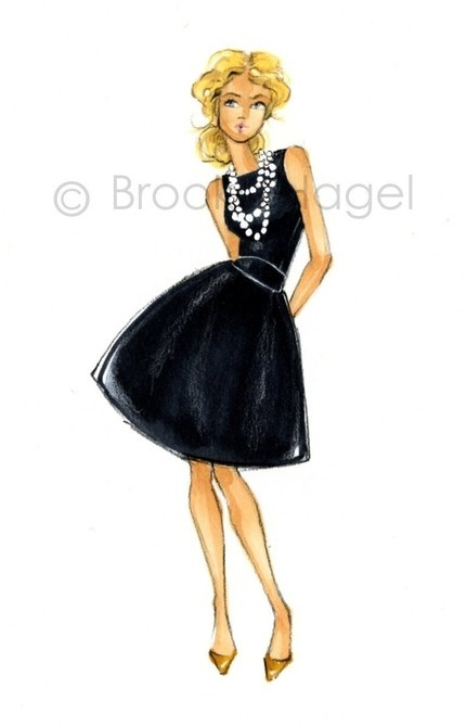 Little Black Cocktail Dress Sketches