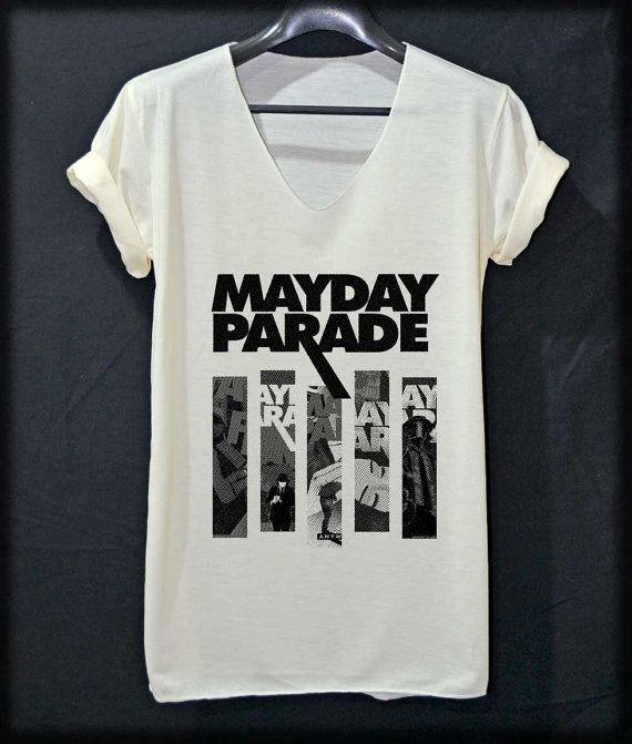 Mayday Parade All Album Pop Rock Shirt VNeck Off by iNakedapparel, $13.99