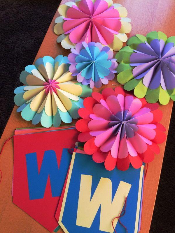 画用紙で作る花飾り - Hiro-DesignWorks*blog