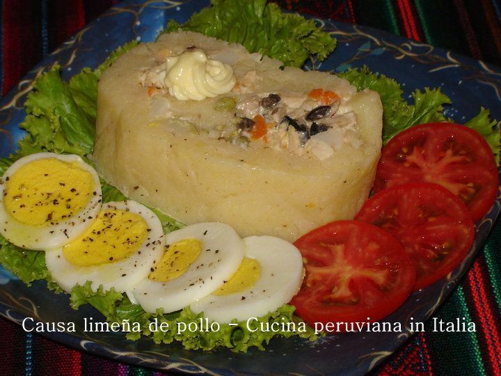 Cucina peruviana in Italia: Causa Limeña de pollo