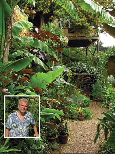 The Exotic Garden Norwich, with its owner, the writer of The New Exotic Garden, Will Giles. All this in the UK too