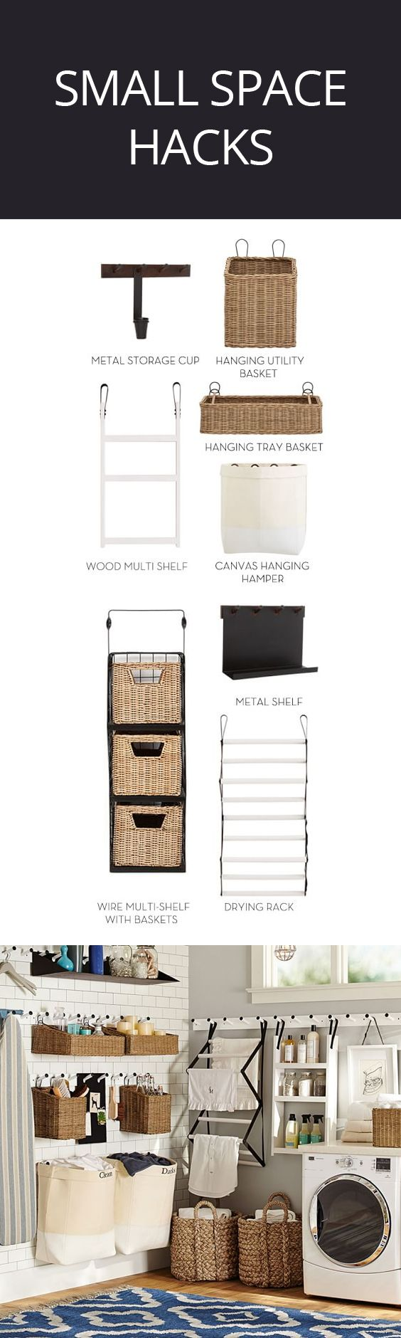 Keeping everything straight just got easier with this modular organizing system! Maximize efficiency in all the busy areas of the home – pantry, entry, office, garage, laundry and more. Easily configured to meet your specific needs. #minimalist #spacesaver #spacesaving #ad #organization
