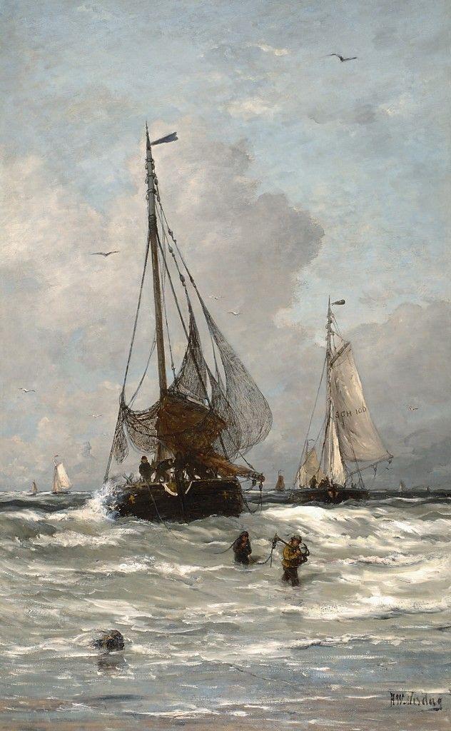 Hendrik Willem Mesdag – De thuiskomst van de vissersvloot in Scheveningen