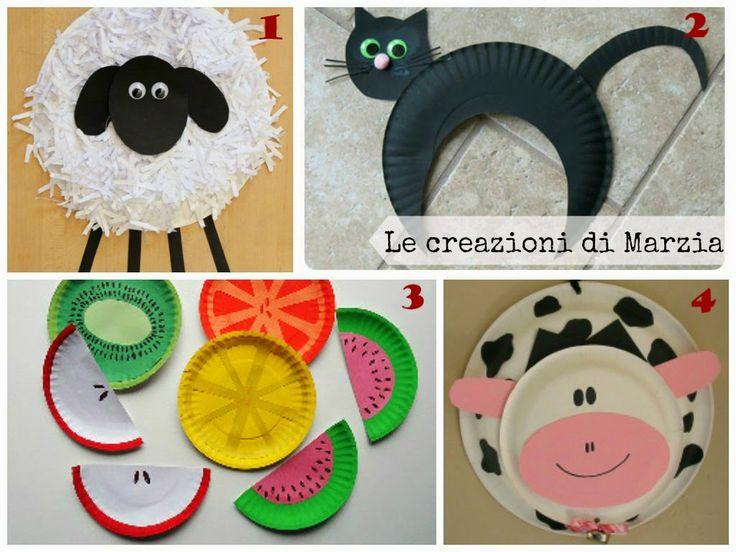 Le creazioni di Marzia: Idee e tutorial per riciclare i piatti di carta