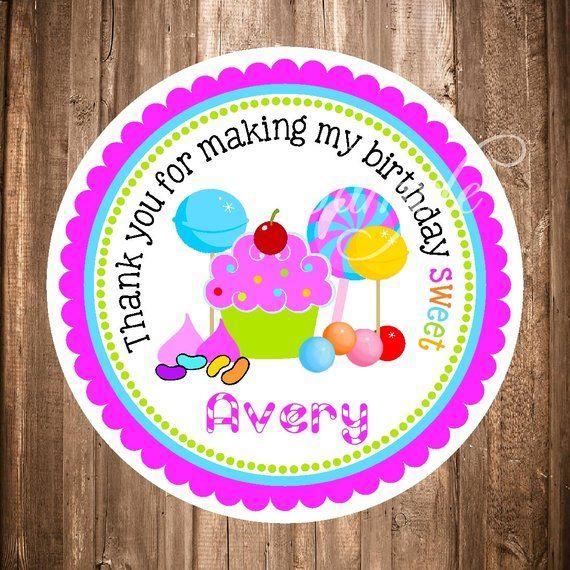 DIGITAL DOWNLOAD Candyland Candy Land Theme 3  Lollipop Labels Printables