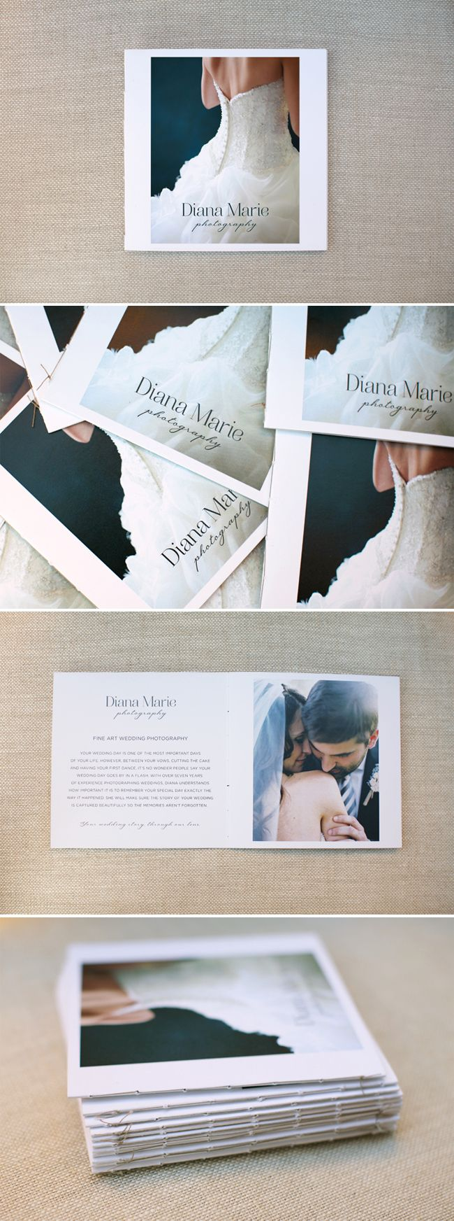 Brochure Inspiration // Matte paper, hand binding with cotton thread, rough edges, artistic and clean.