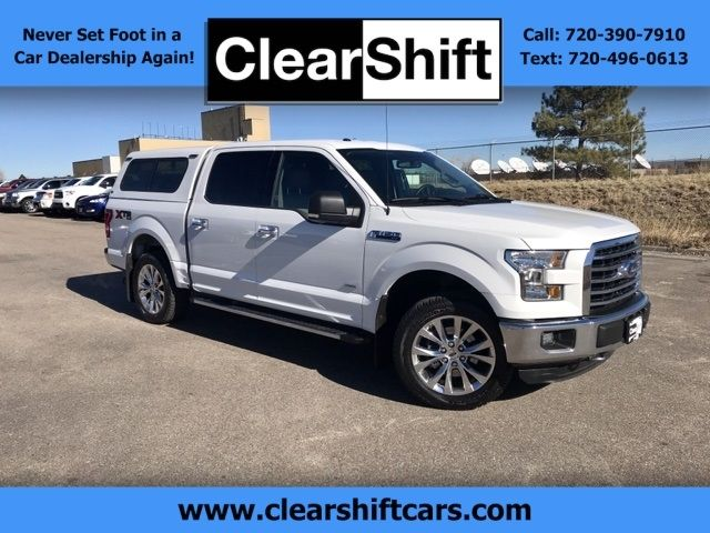 59 827 Miles 2015 Ford F 150 Xlt Crew Cab 4x4 3 5l V6 Ecoboost Oxford White Exterior With Gray Cloth Interior Luxury Gr With Images Ford F150 Car Dealership Used Trucks