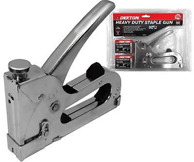 dekton staple gun heavy duty tacker with 800 staples upholstery stapler httpwww