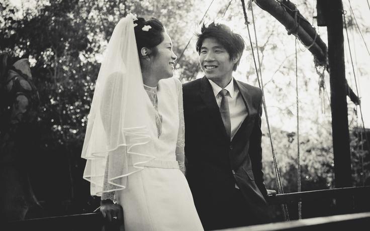 Koreanische Hochzeit in Berlin, Hochzeitsfoto, Brautpaaar,     Corean wedding in Berlin