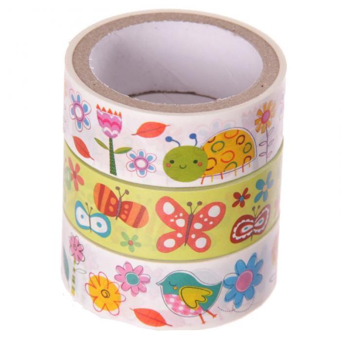 Ozdobná papírová lepící páska #Flora a #fauna #garden #papertape #stationery #paska