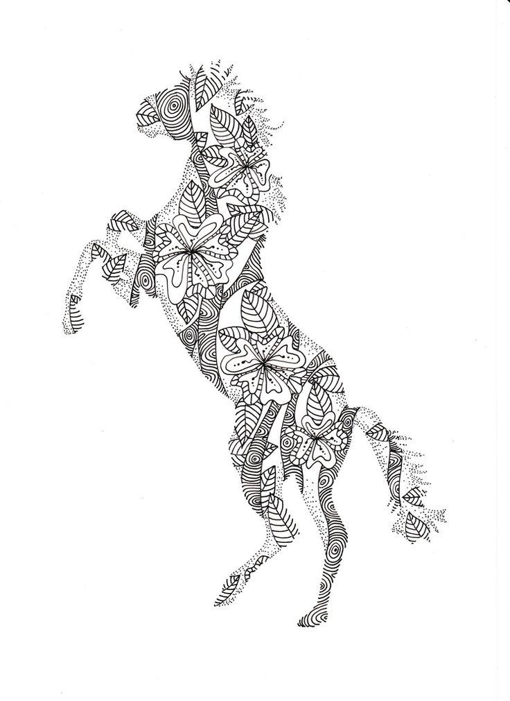 117 best kleurplaat paarden images on pinterest