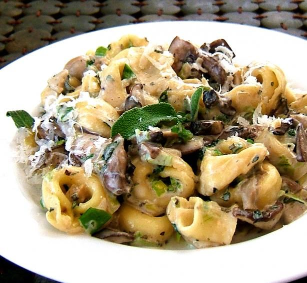 Gnocchi With Sage, Mushrooms Mascarpone Recipe - Italian.Food.com  Eating this now!  Cv approves.
