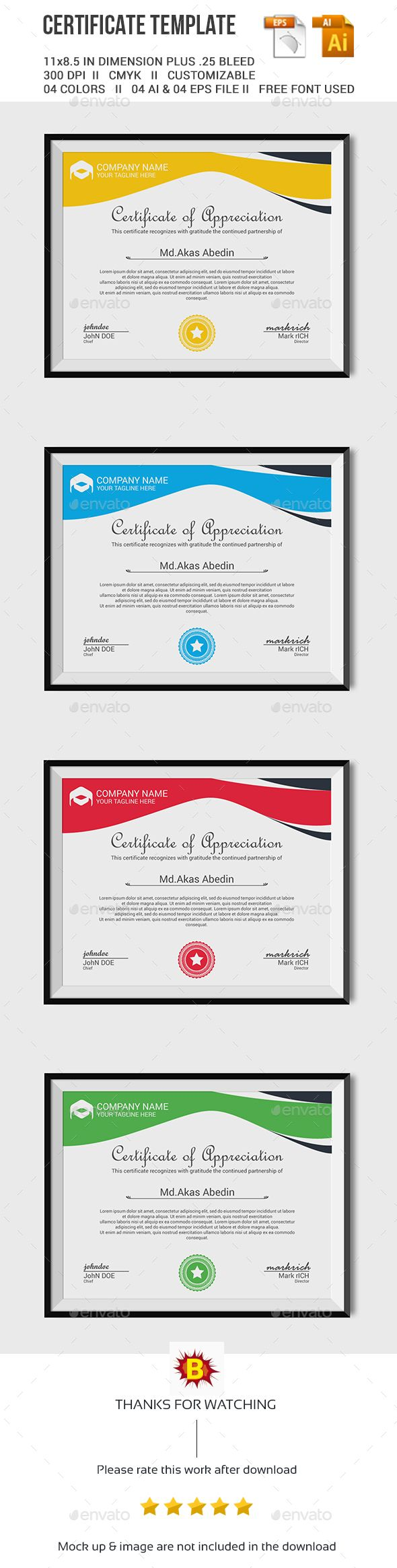 36 best certificate template images on pinterest certificate certificate template yadclub Choice Image