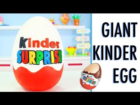 GIANT Kinder Surprise Egg - How To Make a GIANT KINDER Smash Cake - YouTube