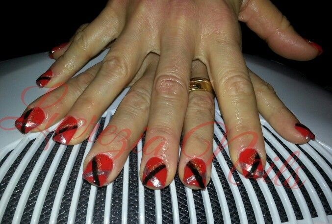 #christmas nail #nail art #red nail #unghie quadrate #unghie natalizie