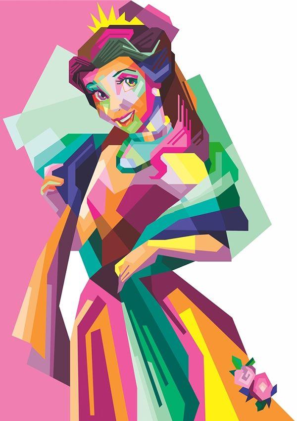 As princesas da Disney também são arte pelas mãos de Indira Yuniarti. Conheça mais sobre esse lindo trabalho. Por Thomaz Gariglia