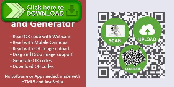 [ThemeForest]Free nulled download QR Code Scanner and Generator from http://zippyfile.download/f.php?id=51976 Tags: ecommerce, javascript qr code reader, qr, qr code, qr code maker, qr code reader, qr code scanner, qr creator, qr generator, qr reader, qr scanner