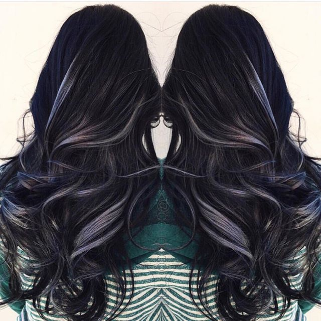 Gunmetal Gray and Black Color by @dougoconnell13 Sexy holiday style! #hotonbeauty