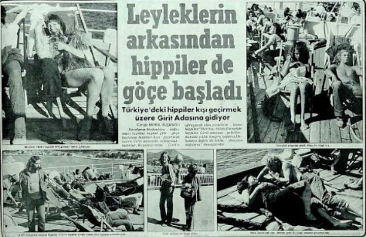 """""""Leyleklerin arkasından hippiler de göçe başladı"""" (Kasım, 1971, Günaydın Gazetesi) #eskihaberler #nostalji #birzamanlar #istanlook"""