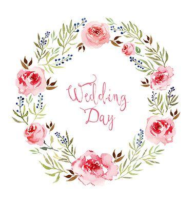 Watercolor flowers frame vector wedding design - by Karma3 on VectorStock®