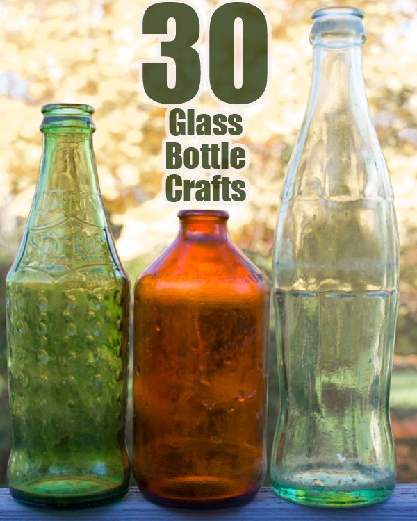 30 Awesome Glass Bottle Crafts