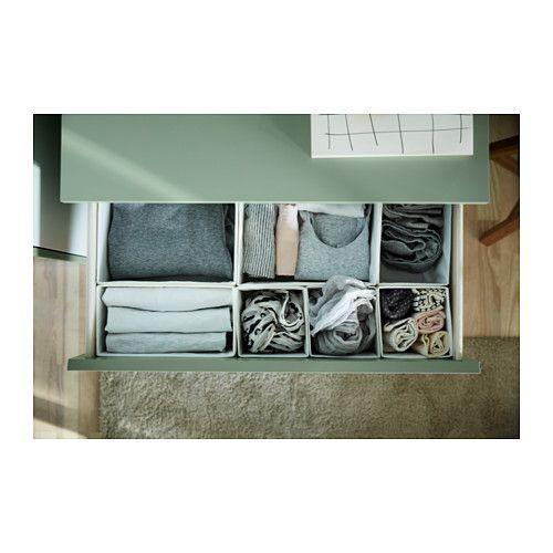 MALM Cassettiera con 3 cassetti - verde chiaro - IKEA