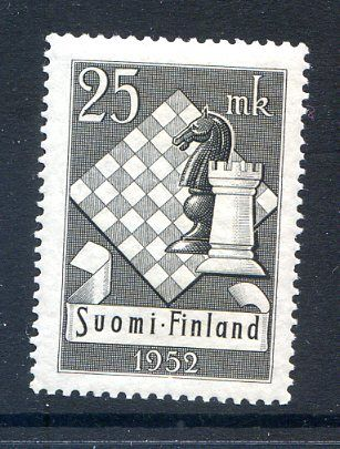 Finland 1952 #308, Chess issue -- MNH - bidStart (item 43635798 in Stamps, Europe... Finland)