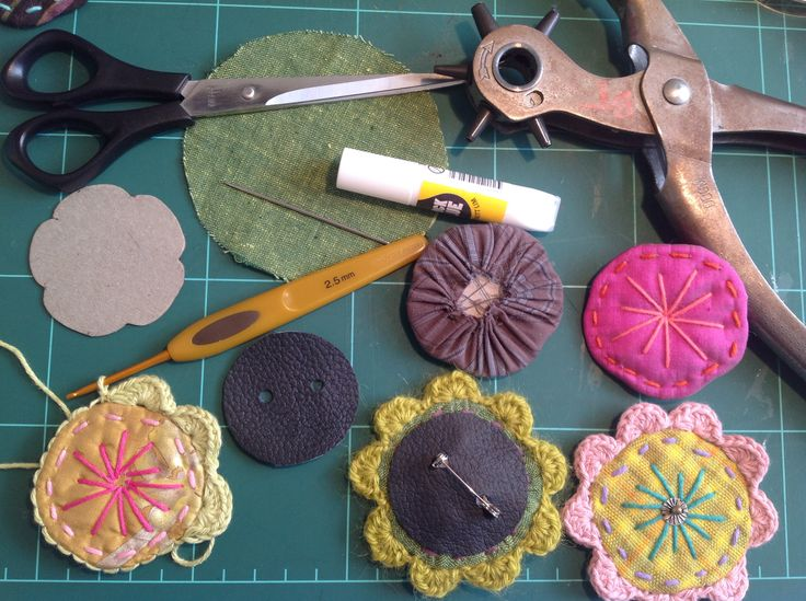 How to make 'Hippie-broches - or 'Beauty-badges'