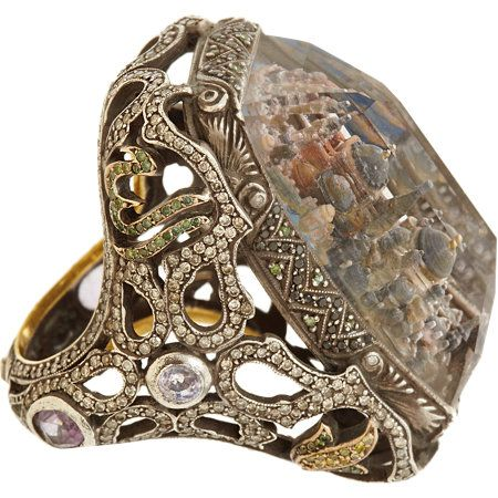 Sevan Bicakci Diamond & Amethyst Architecture Ring at Barneys.com
